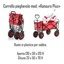 CARRELLO PIEGHEVOLE PORTATUTTO PER TRASPORTO RIMORCHIO IN SPIAGGIA CAMPEGGIO