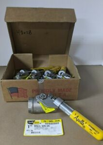 """1"""" Apollo 76-505-01A Ball Valve With Spring Return Handle Stainless Steel"""