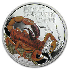 2014 Perth Mint 1 oz Proof Silver Deadly & Dangerous - Spider Hunting Scorpion