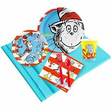 Dr. Suess - Birthday Party Supply Kit for 8 w/ Table Ware