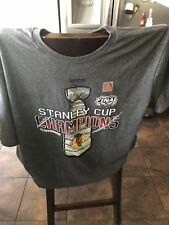 Chicago Blackhawks Reebok Graphite 2015 Stanley Cup Champions Tee-Shirt  XL
