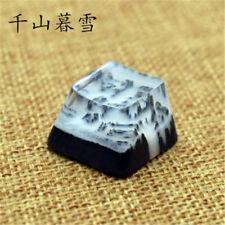 Snow Mountain Landscape Keycaps Resin Wood Handmade Switch Key Cap For Cherry MX