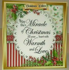 Handmade Greeting Card Christmas With A Lacy Doily And A Sentiment