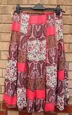 NEXT PATCH FLORAL WORLD PINK PAISLEY WHITE LILAC FLIPPY FULL FLARE SKIRT 8 S