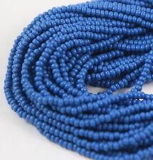 """Czech Glass Seed Beads Size 10/0 Opaque """" TEAL BLUE  """" 1 Hank"""