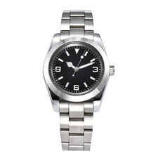 automatic men watch sapphire crystal sterile dial 39mm silver steel case G9