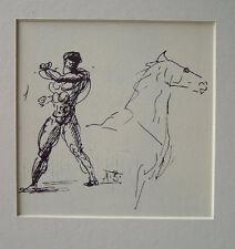 Arno Breker - männlicher Akt mit Pferd +Passepartout