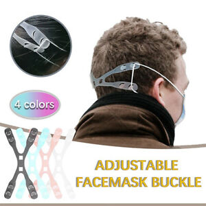 Unisex Face Mask Clips Hook Extension Belt Rope Adjustable Elastic Cord MoutHCA