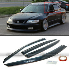Fit 98-02 Accord 4Dr Sedan Mugen Style 3D Wavy Tinted Window Visor Vent