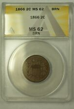 1866 2c ANACS MS62BN (Better Coin)  (23)