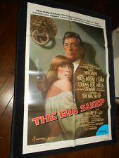 The Big Sleep Robert Mitchum Original One Sheet Poster Raymond Chandler