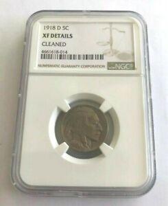 E1918-d 5c Buffalo Nickel XF Details Graded NGC
