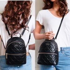 NWT Kate Spade Natalia Mini Convertible Leather Backpack in Black