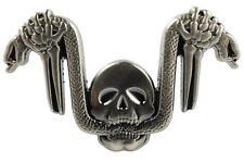 SNAKE HANDLEBARS Skull German Biker Harley Hog Motorcycle Hat Tie Tack Lapel Pin