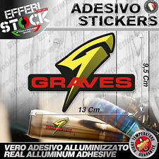 Adesivi Stickers GRAVES 200° exaust scarico Ducati Suzuki Honda Yamaha Ktm