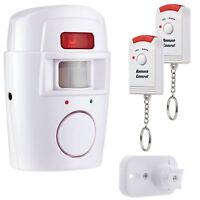 Alarma Antirrobo de Sensor de Movimiento PIR + 2 Control Remoto Hogar Seguridad