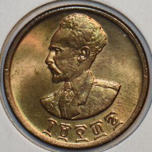 Ethiopia 1943 ~44 10 Cents Lion animal 297465 combine