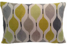 """12 x 18"""" RECTANGLE CUSHION COVER-in VERVE mimosa yellow grey lime retro bolster"""