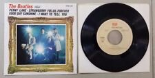 BEATLES STRAWBERRY FIELDS FOREVER VINTAGE MEXICAN EP 45 RECORD RE13