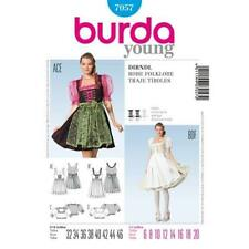 Burda Sewing Pattern 7057 Folklore Smart Dirndl Puff Sleeves Dress 6-20 UC New