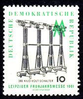 813 postfrisch DDR Briefmarke Stamp East Germany GDR Year Jahrgang 1961