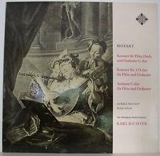 "MOZART CONCERT DE FLÛTE-HARPE ANDANTE NICOLET STEIN KARL RICHTER 12"" LP (f281)"