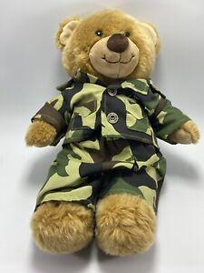 "Build a Bear Plush GI Joe Army Camouflage Uniform Military 14"""