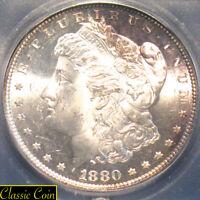 1880-S Morgan Silver Dollar $1 ICG MS64+ 90% Silver Nicely Toned