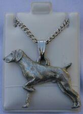German Shorthair Pointer Dog Harris Fine Pewter Pendantw Chain Necklace USA Made
