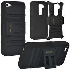 AMZER Black Hybrid Kickstand Case For Amazon Apple iPad HTC LG Motorola Samsung