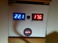 12v Led Indicador De Temperatura Digital Panel Mount Dash Barco Caravana Camper Horsebox