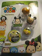 Disney Tsum Tsum 4 Pack Mini Figures Series 3, Metallic shine - random pack
