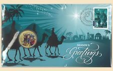 Australia 2016 Christmas Three Wise Men PNC Stamp & $1 UNC Coin Cover