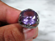 HUGE MID CENTURY MODERN TAXCO EAGLE STERLING ALEXANDRITE COCKTAIL RING Sz 6 3/4