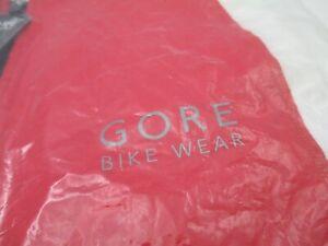 Gore Bike Wear red white black zip Cycle shirt Sleeveless Jersey Sz L New