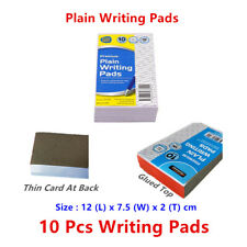 10 x Plain White Writing Paper Pad Note Book Memo Letter Art Drawing Blank
