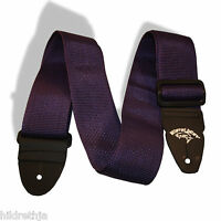 Bitterroot Guitar Strap 2 inch Purple US Made with Leather Ends 100203PL