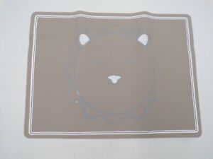"""Pottery Barn Kids Lion Silicone Table Placemat Gray 15.75""""w x 12""""L #9958"""