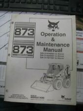 Bobcat 873 Skid Steer Loader Operation & Maintenance Manual 6900927