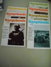 Rangelands Magazine ~ 8 Issues ~ 1979 - 1984 ~ Society for Range Management