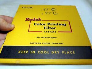 KODAK Couleur Impression Lentille Filtre 15.2X15.2cm Gélatine Carré CP-05C Léger