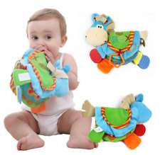 Baby Rattles Teether Toy Book Newborn Donkey Animal Toddler Colorful Development