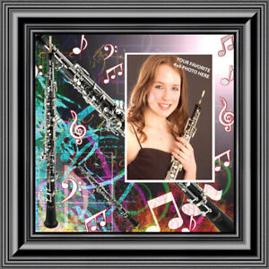 **NEW** Oboe, Marching or Concert Band Personalized Picture Frame, 10X10 3508