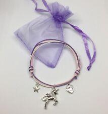 unicorn wish bracelet - Best friend heart star charms pink gift friendship party