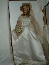 "Ashton Drake Porcelain ""Two Hearts As One"" Bride Doll w/COA"