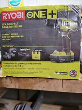 Ryobi P1811 ONE+ 18V Lithium-Ion Drill/Driver Kit With 2 Batteries &bag