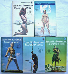 EDGAR RICE BURROUGHS VENUS SERIES all five books VERY GOOD NEL