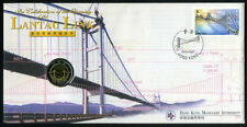 Hong Kong 1997' Lantau Islands Bridge Coin Cover issued by HK Monetary Authority