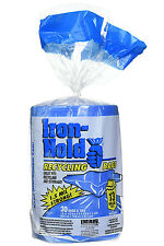 Iron-Hold 618781 Tall Kitchen Recycling Bags & Ties, Blue, 13-Gal, 30-Count