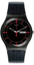 Swatch Unisex New Gent Gaet Analogue Watch, Date Indicator, Black Face, SUOB714